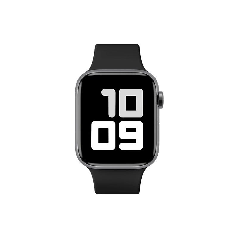 Remienok na Apple Watch 38mm/40mm M/L silikónový Čierny