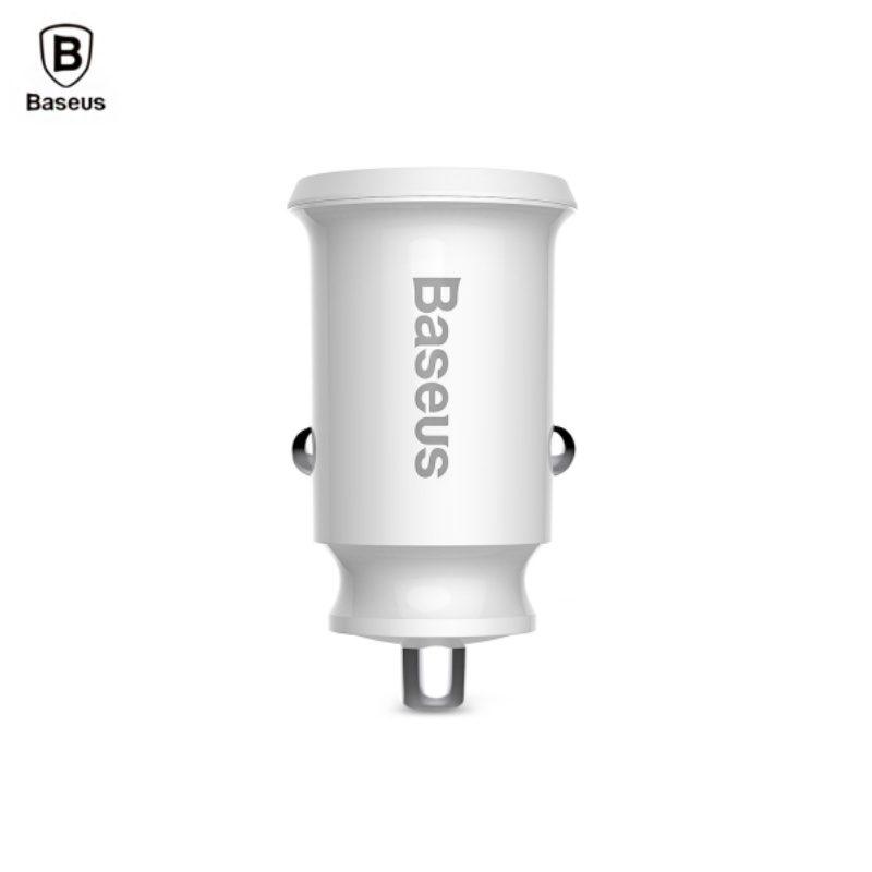 Baseus nabíjačka do auta s dvoma USB portami - biela
