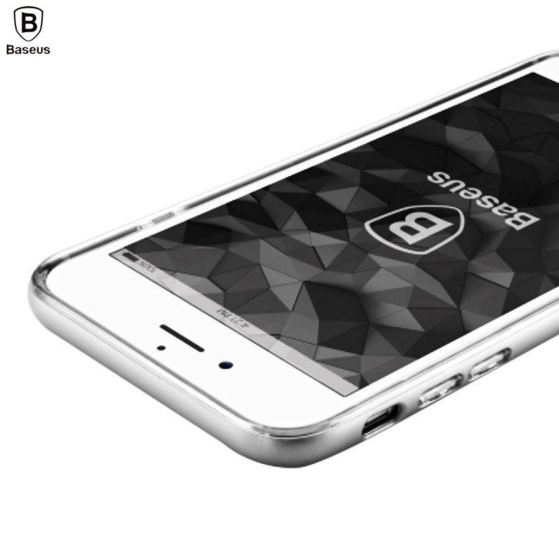 Silikónový kryt na Apple iPhone 7/8 Plus - strieborný Baseus