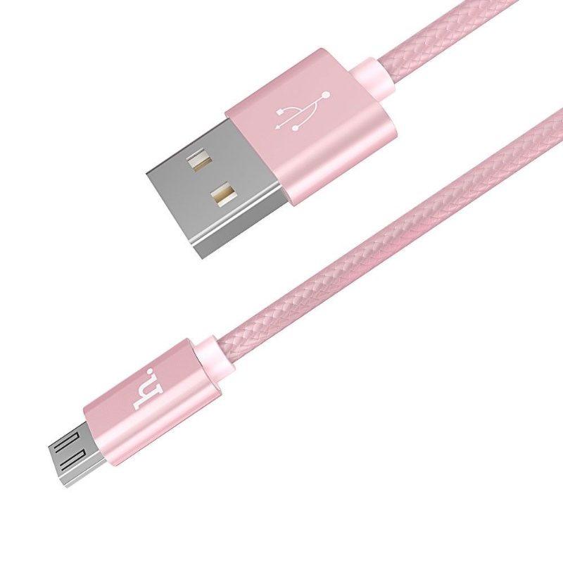 Kábel Micro USB Rapid Charging 100cm Hoco X2 - ružový