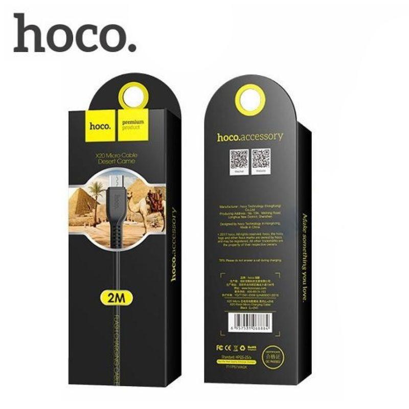 Kábel 2.4A Micro USB 100cm Hoco X20 - čierny