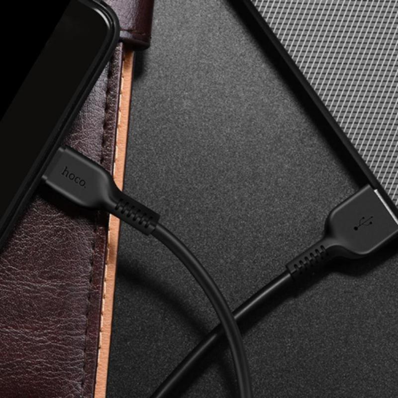 Hoco X20 kábel 2.4A Micro USB 100cm - čierny