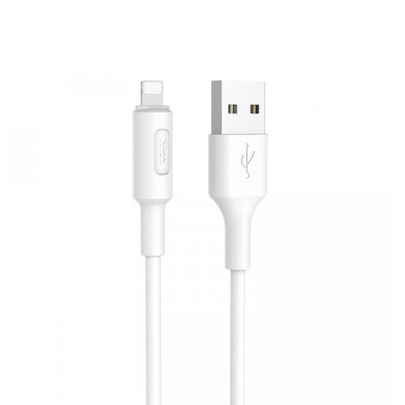 Kábel Apple iPhone Lightning 2A Charging Data 100cm Hoco X25 - biely