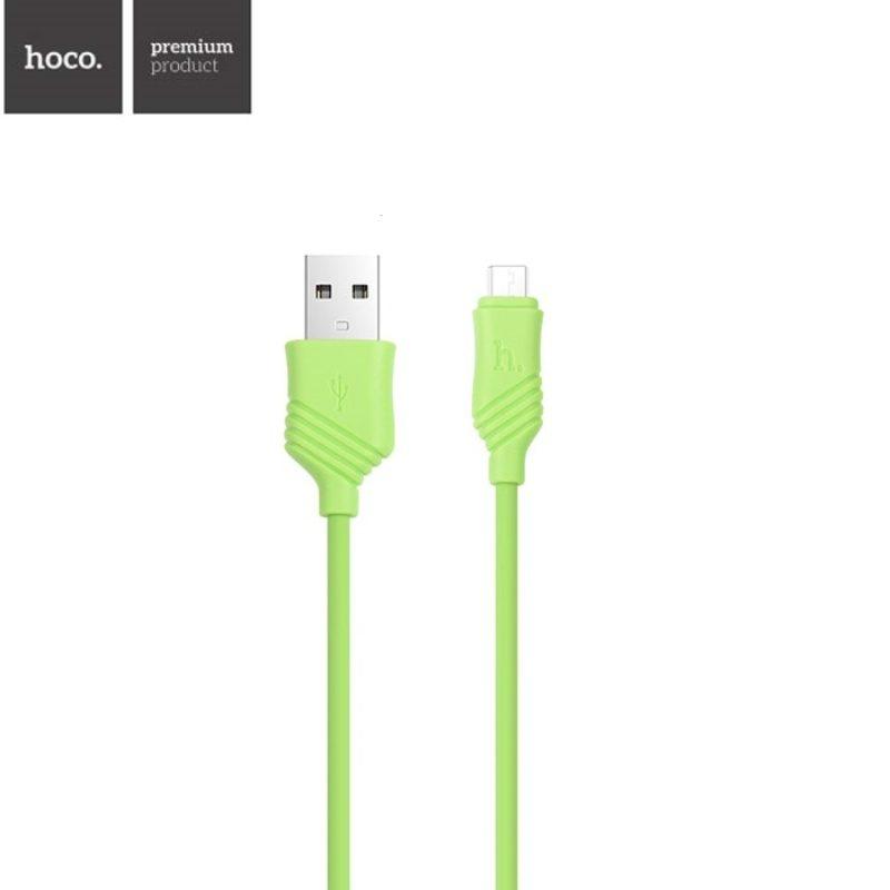 Kábel Micro USB 100cm Hoco X6 - zelený