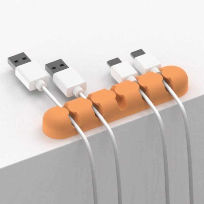 Silikónový organizér káblov Orico- oranžový