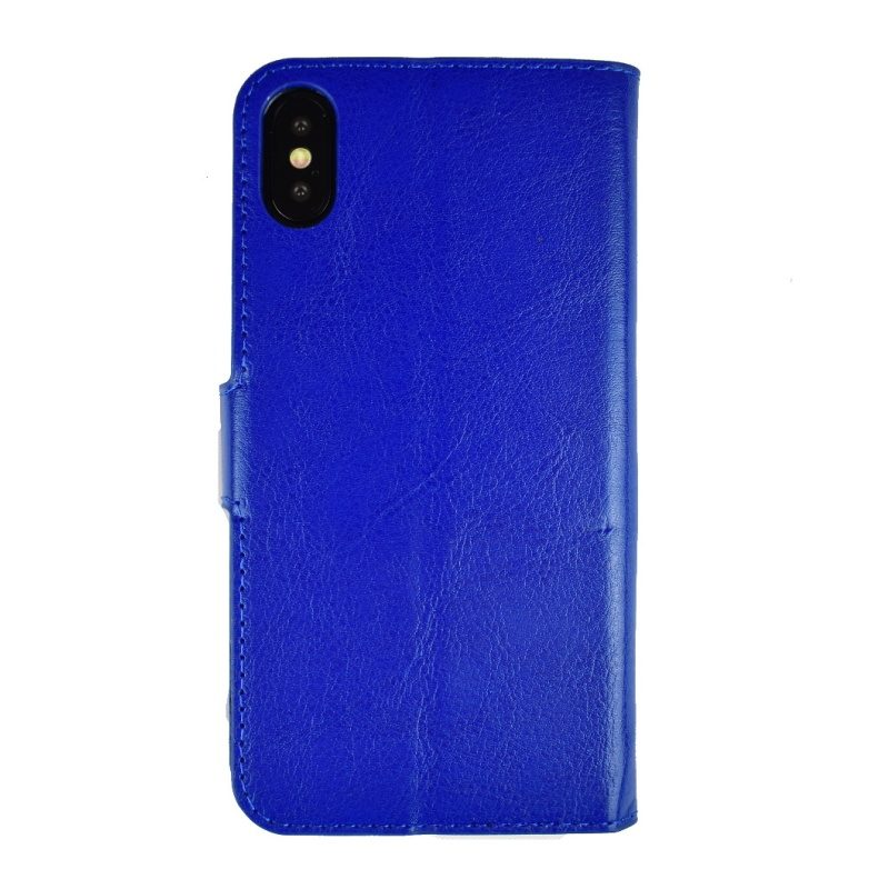 Apple iPhone X/XS ochranné flip puzdro - modré 2