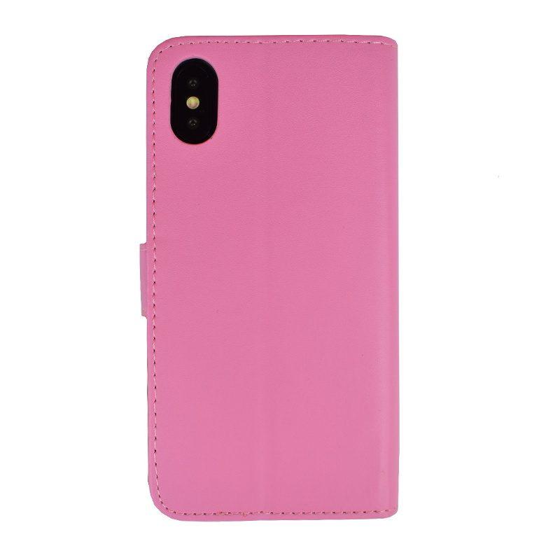 Ochranné flip puzdro na iPhone X/XS - ružové