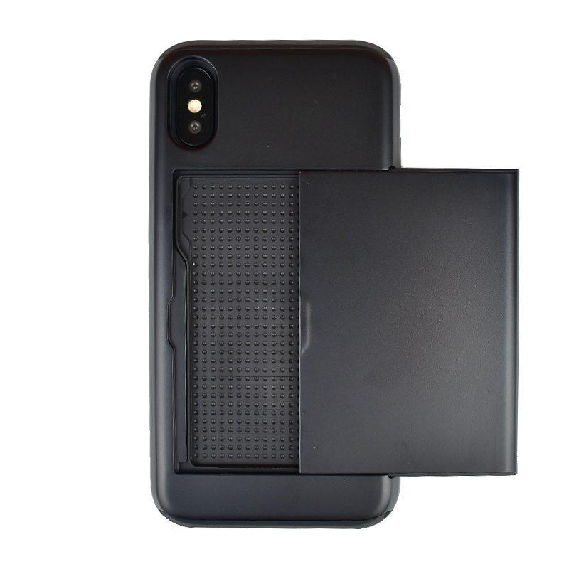 Plastový kryt na iPhone X/XS odolný s priehradkou