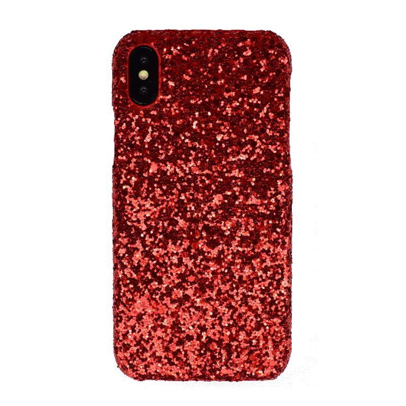Plastový kryt na iPhone X/XS Red Sparkling