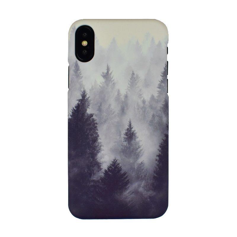 Plastový kryt na iPhone X/XS - hmla