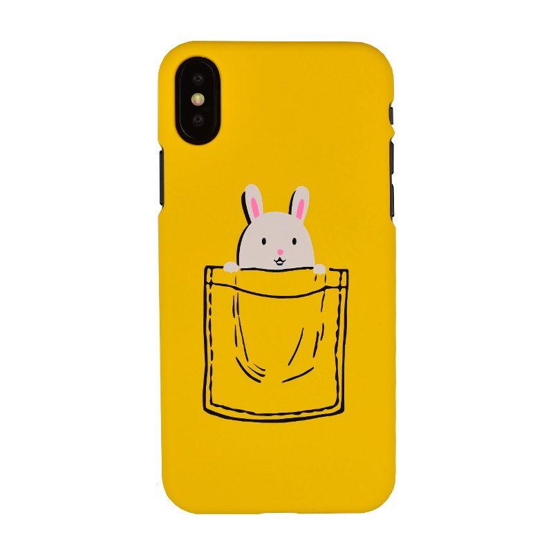 Plastový kryt na iPhone X/XS- králik