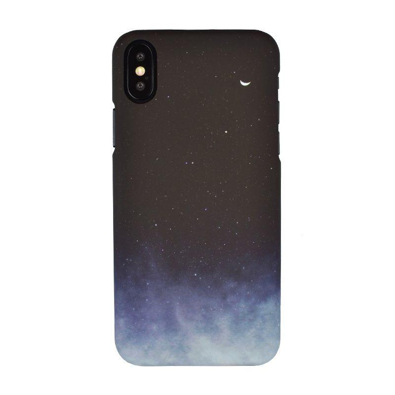 Plastový kryt na iPhone X/XS - noc