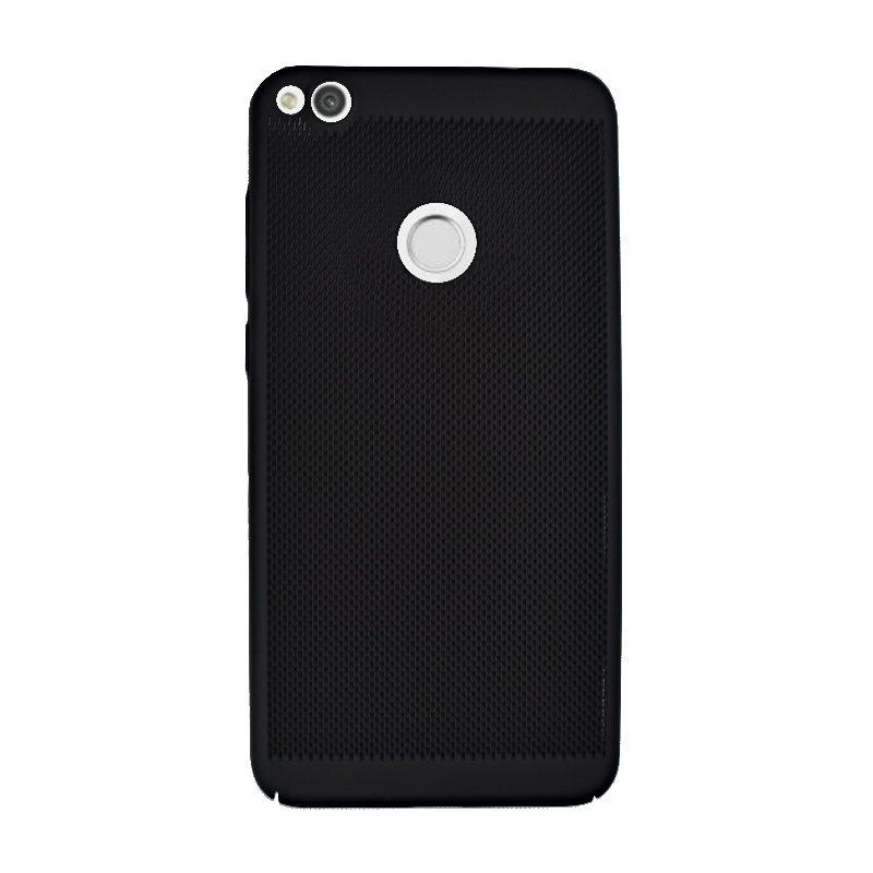 Plastový kryt na Huawei P9 Lite P8 Lite 2017 dierkovaný Black
