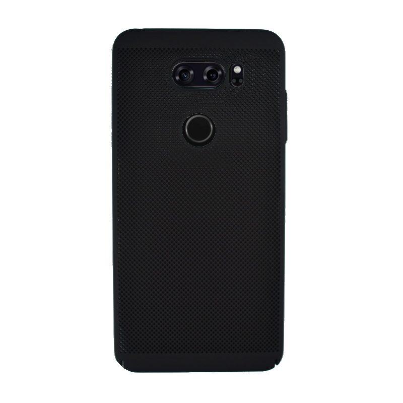 Plastový kryt na LG V30 dierkovaný Black