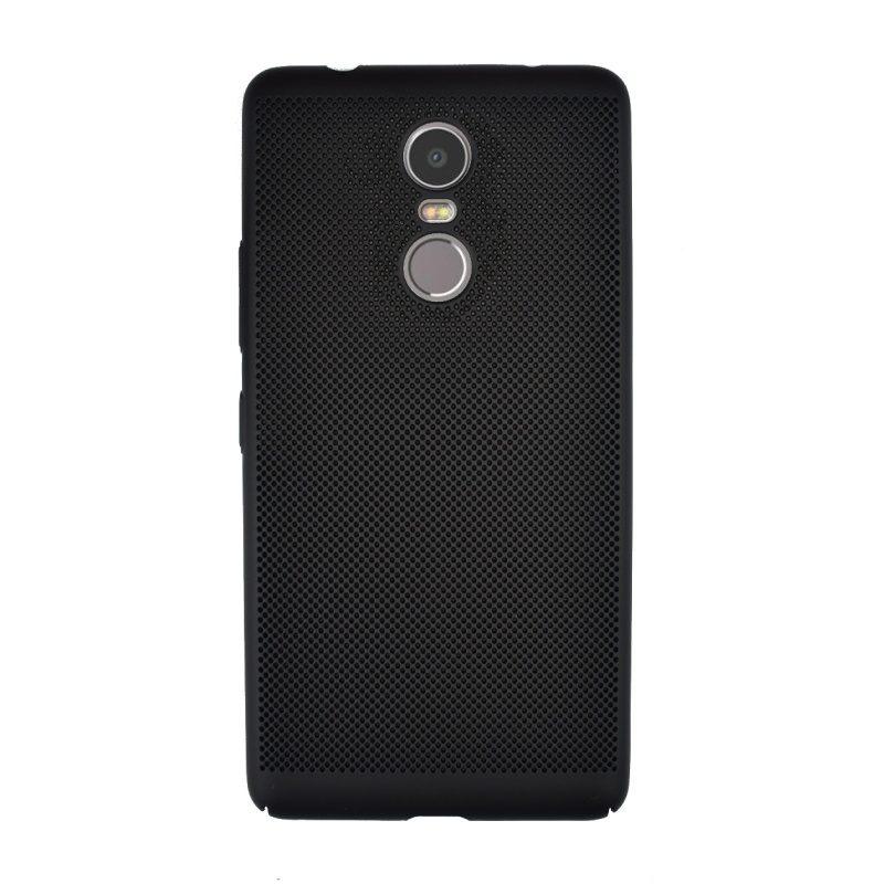 Plastový kryt na Lenovo K6 Note dierkovaný Black