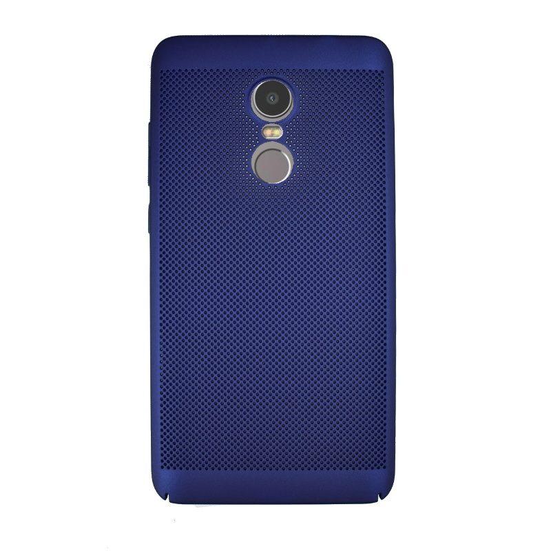 Plastový kryt na Lenovo K6 Note dierkovaný Blue