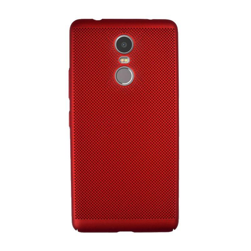 Plastový kryt na Lenovo K6 Note dierkovaný Red