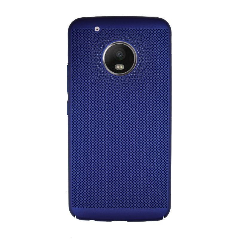 Plastový kryt na Lenovo Moto G5 Plus dierkovaný Blue