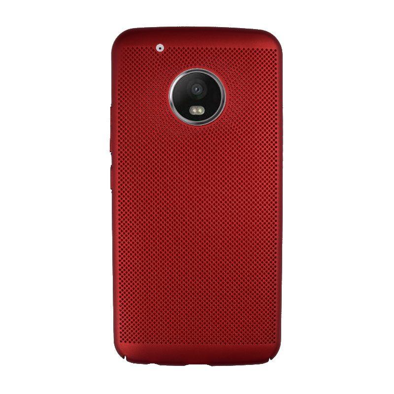 Plastový kryt na Lenovo Moto G5 Plus dierkovaný Red