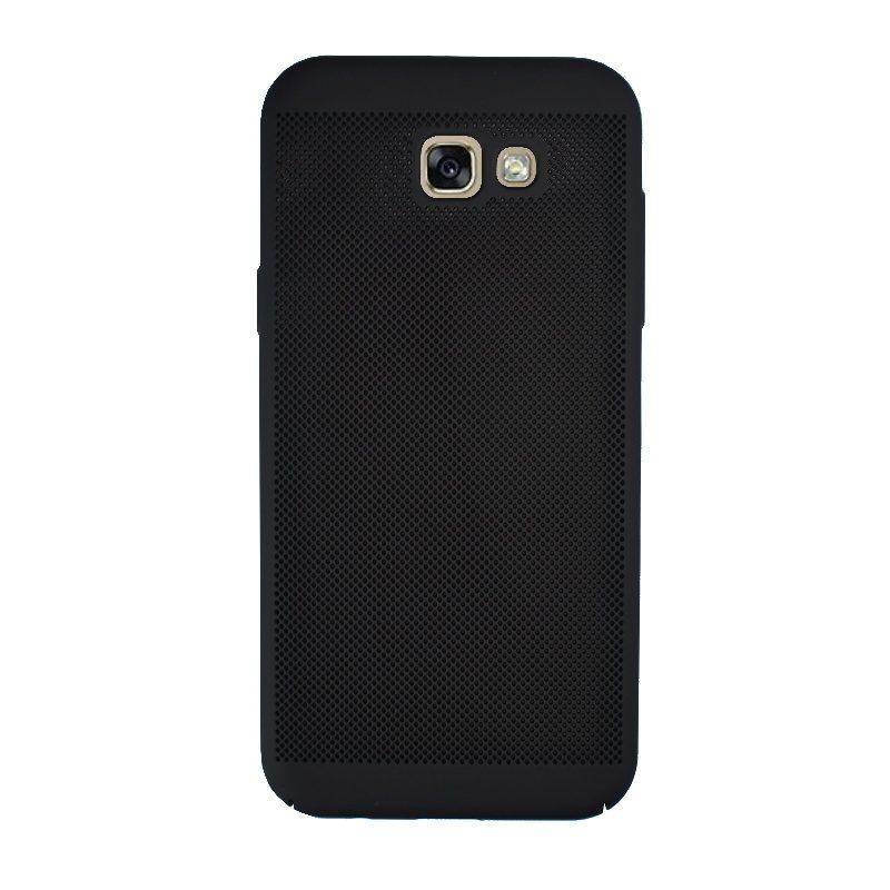 Plastový kryt na Samsung Galaxy A7 2017 dierkovaný Black