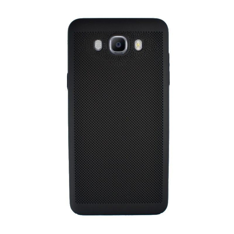 Plastový kryt na Samsung Galaxy J7 2016 dierkovaný Black
