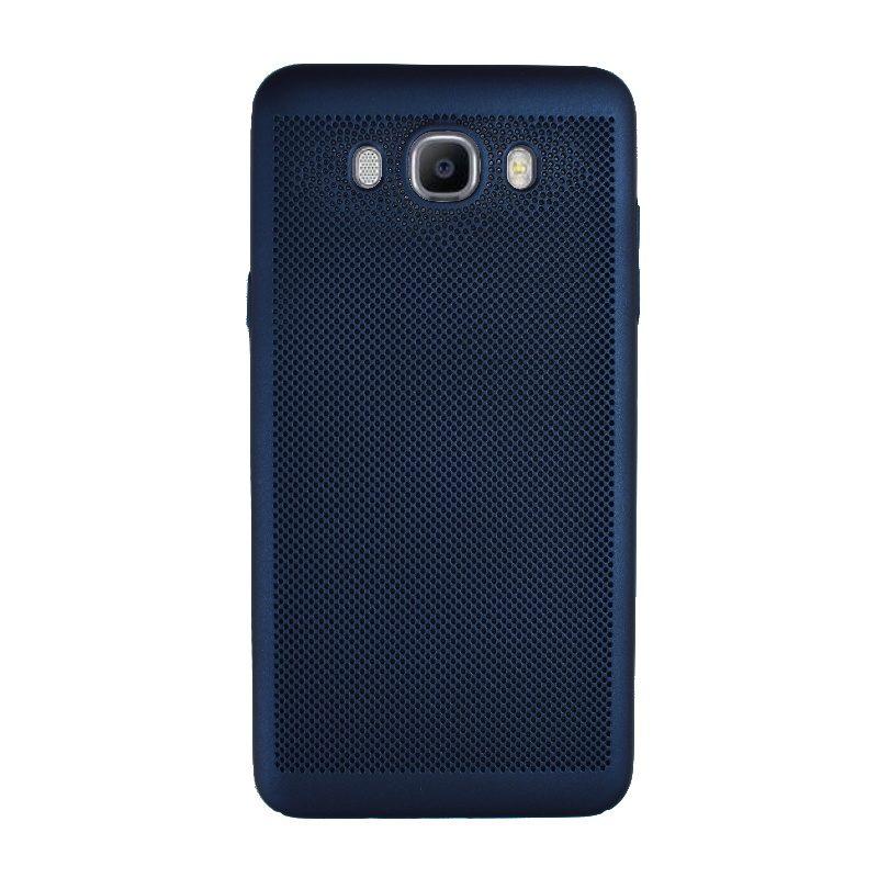 Plastový kryt na Samsung Galaxy J7 2016 dierkovaný Blue