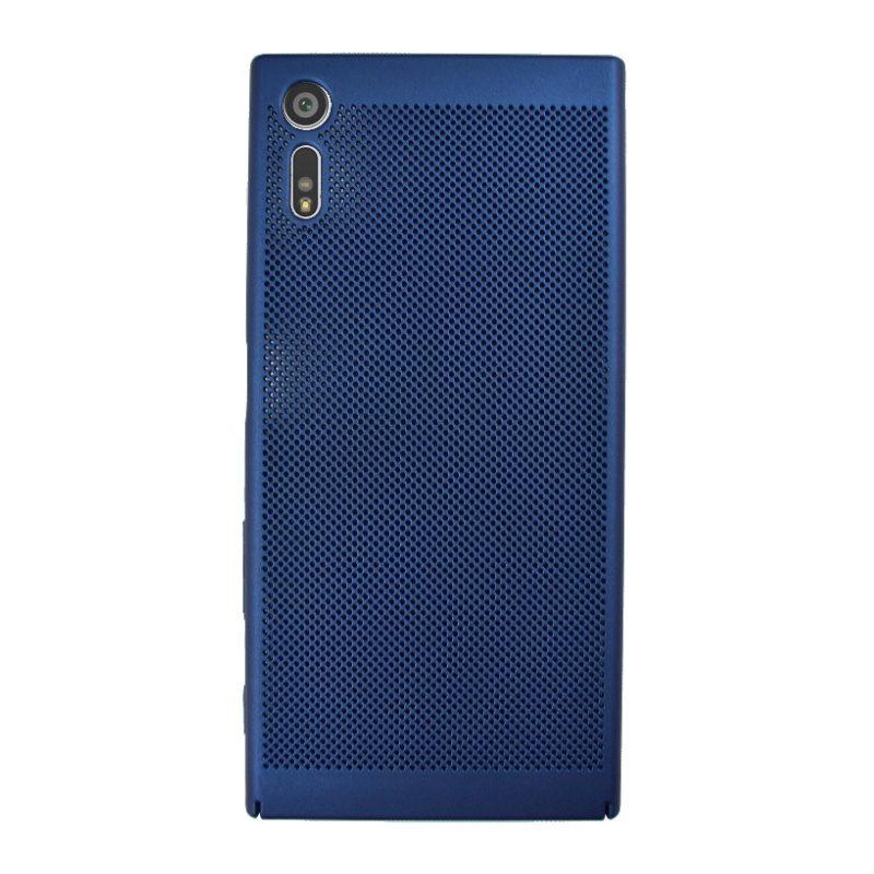 Plastový kryt na Sony Xperia XZ dierkovaný Blue