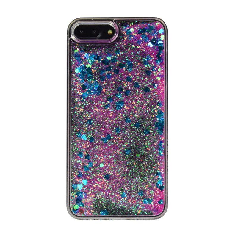Plastový kryt na iPhone 7/8 Plus presýpací Blue Heart
