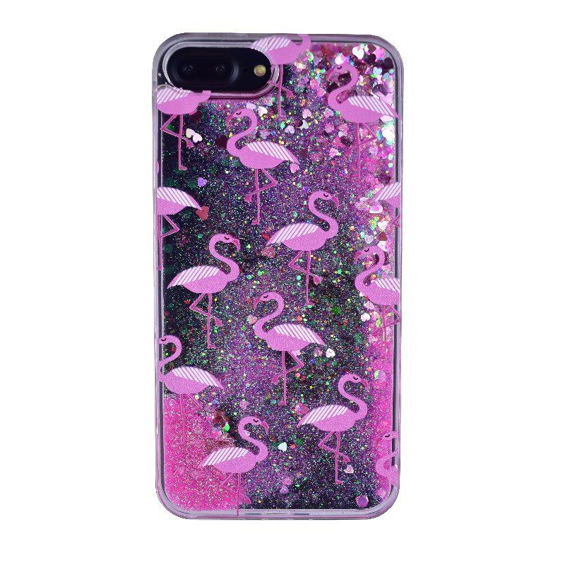 Plastový kryt na iPhone 7/8 Plus presýpací Flamingo