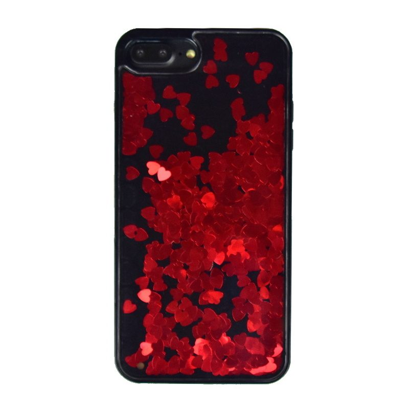 Plastový kryt na iPhone 7/8 Plus presýpací Red Heart