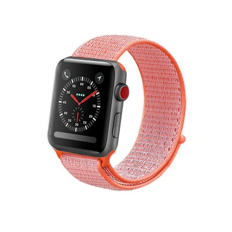 Remienok na Apple Watch 42mm/44mm látkový oranžový