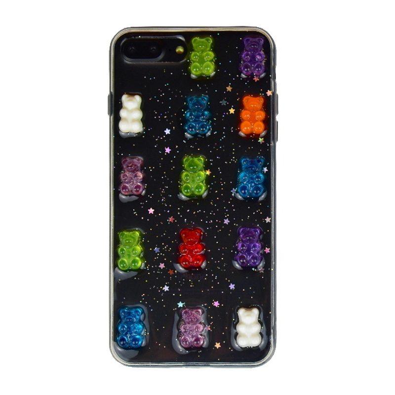 Silikónový 3D kryt na iPhone 7/8 Plus Bears