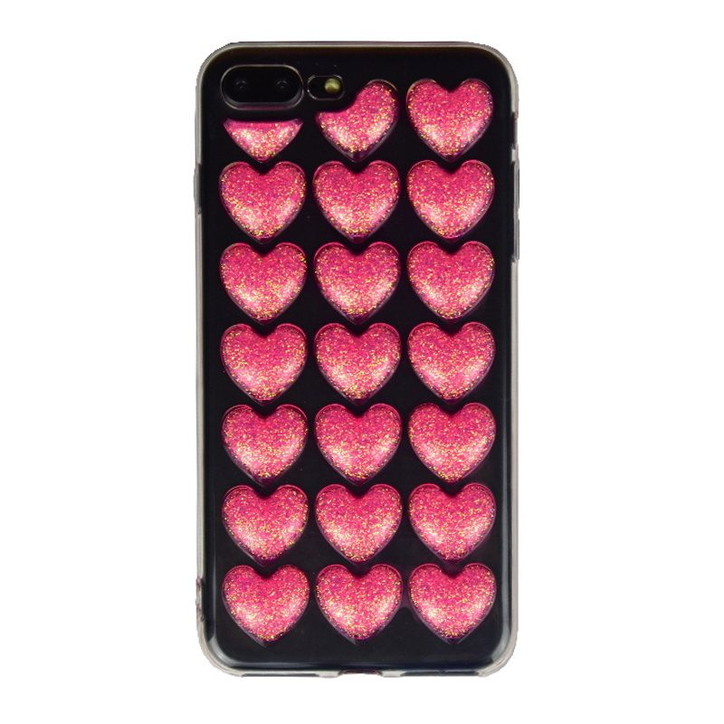 Silikónový 3D kryt na iPhone 7/8 Plus Pink Heart