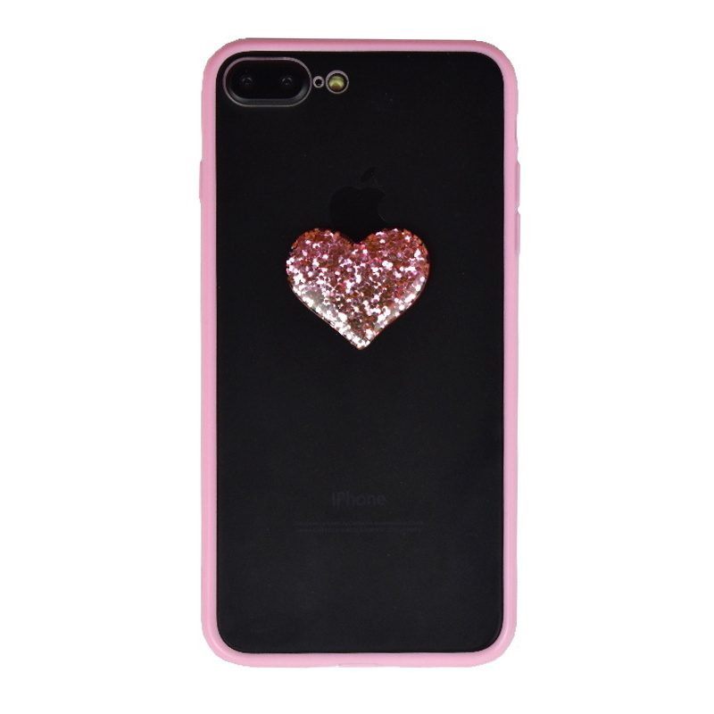 Silikónový 3D kryt na iPhone 7/8 Plus Sparkling Heart