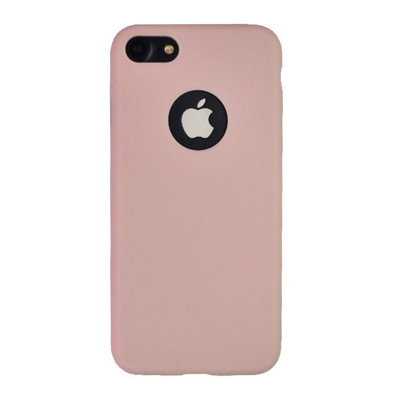 Silikónový kryt na iPhone 7/8/SE 2 s výrezom Dark Pink