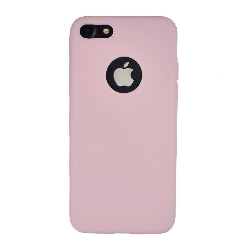 Silikónový kryt na iPhone 7/8/SE 2 s výrezom Light Pink