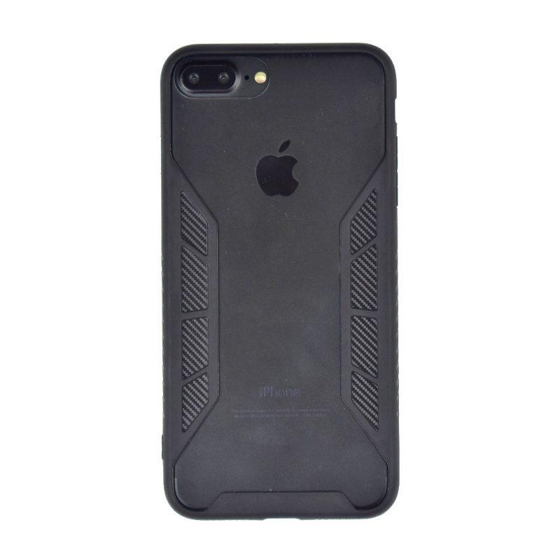 Silikónový kryt na iPhone 7/8 Plus priehľadný Black