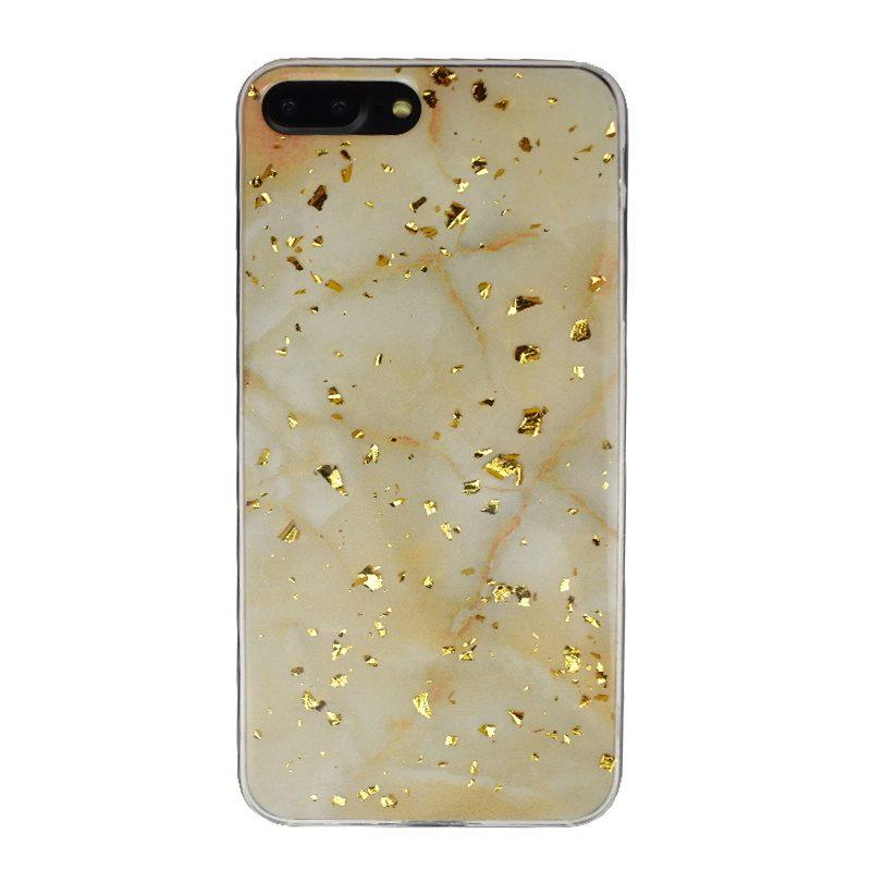 Apple iPhone 7/8 Plus silikónový kryt Gold Marble