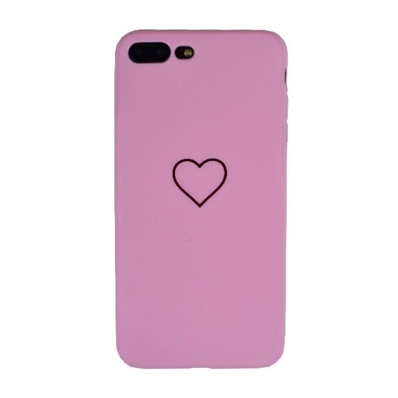 Silikónový kryt na iPhone 7/8 Plus Pink Big Heart
