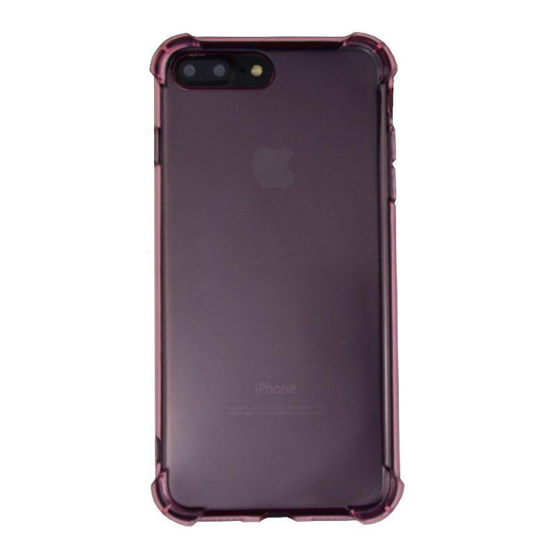 Silikónový kryt na iPhone 7/8 Plus priehľadný s vystúženými hranami Pink