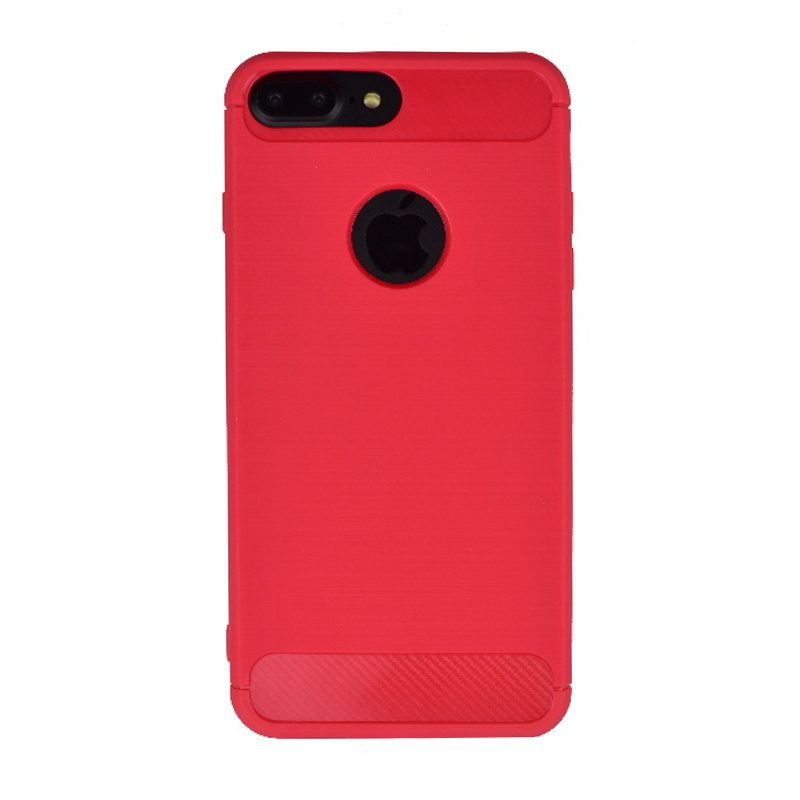 Silikónový kryt na iPhone 7/8 Plus Red Carbon
