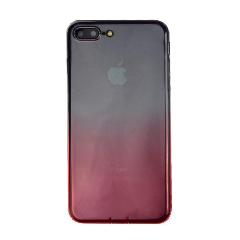 Silikónový kryt na iPhone 7/8 Plus priehľadný Red