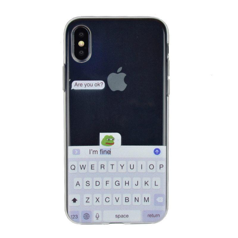 Silikónový kryt na iPhone X/XS - are you ok?