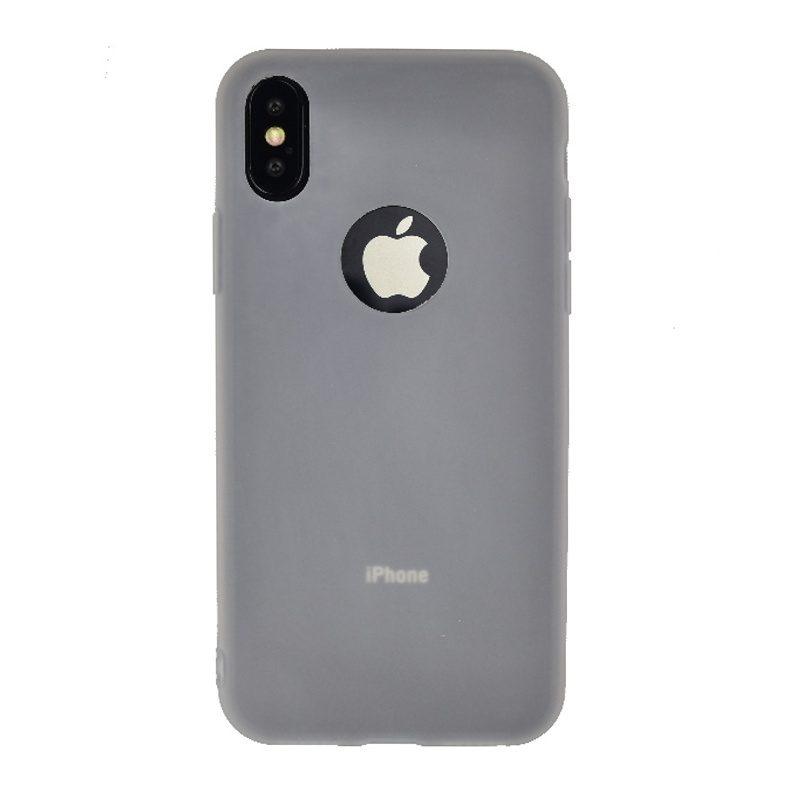 Silikónový kryt na iPhone X/XS - biely tenký