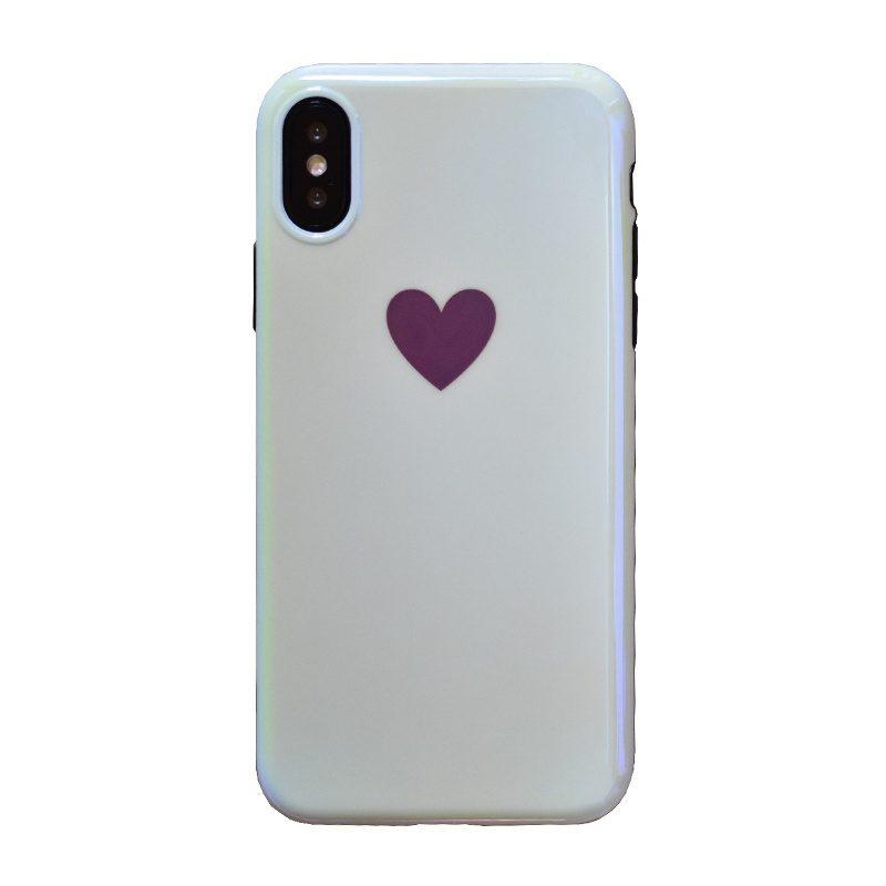 Silikónový kryt na iPhone X/XS - big red heart