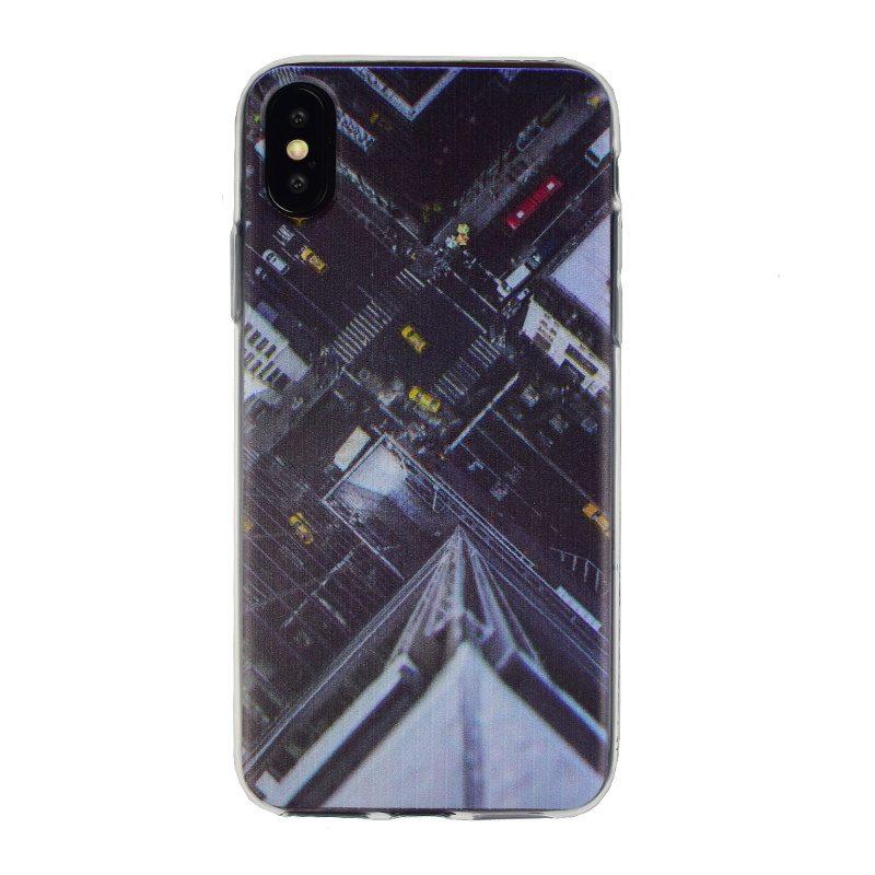 Silikónový kryt na iPhone X/XS - building