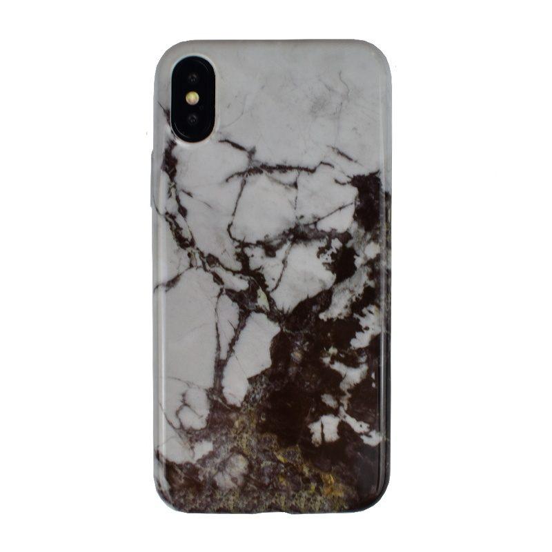 Silikónový kryt na iPhone X/XS - dark marble