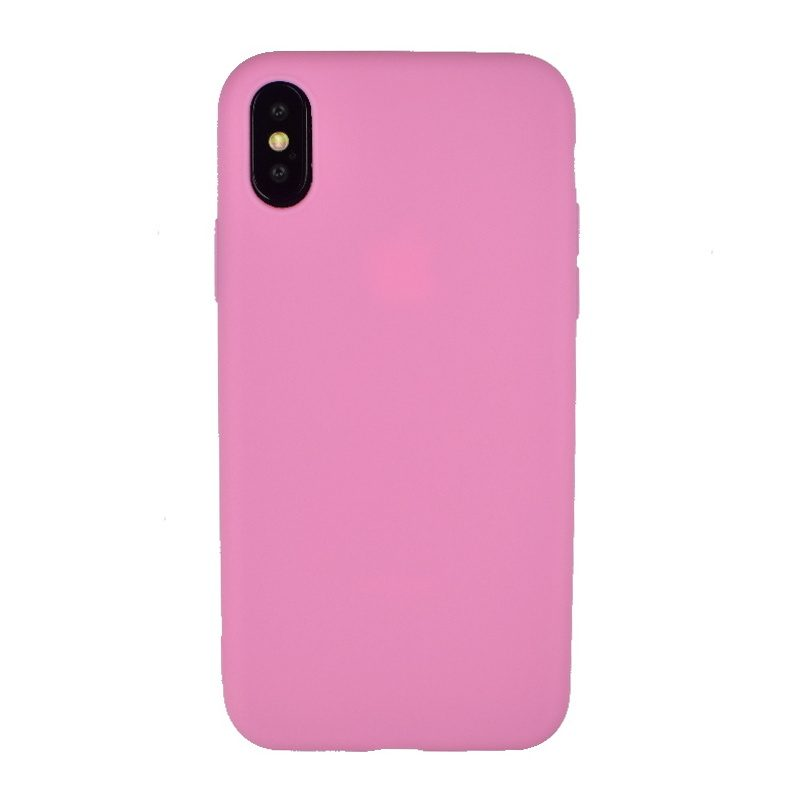 Silikónový kryt na iPhone X/XS - dark pink