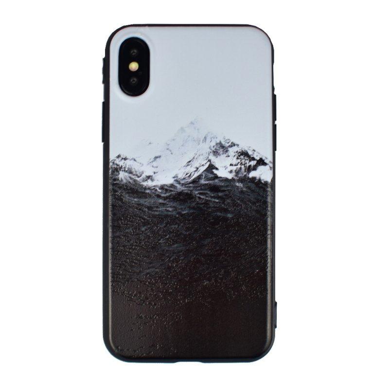 Silikónový kryt na iPhone X/XS - hory