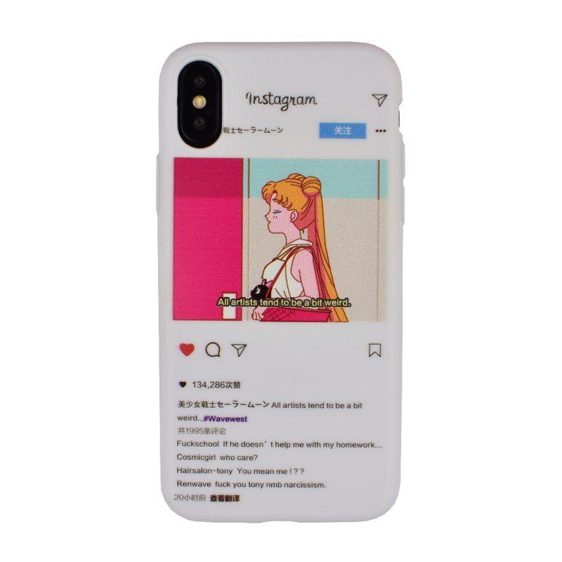 Silikónový kryt na iPhone X/XS - instagram
